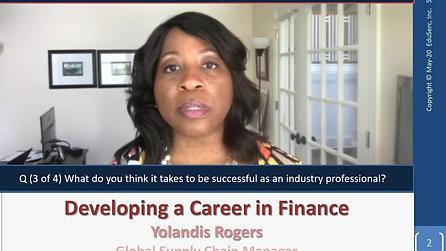 Yolandis Rogers - Career and Professional Advice (Finance)