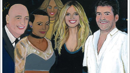 AMERICA'S GOT TALENT VIDEO 1 PAINTING BY MICHA