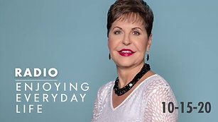 Doing Life With God  Joyce Meyer  Radio Podcast(10-15-2020)