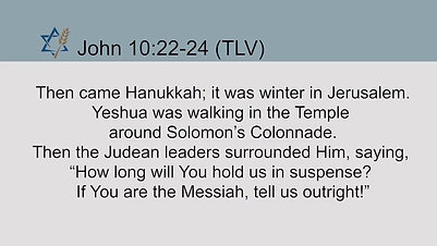 Chanukah - A Time of Rededication