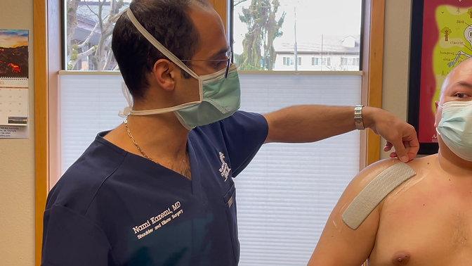 Dressing Care for Open Shoulder Cases