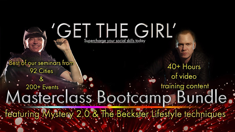 Masterclass Bootcamp Bundle Featuring Mystery 2.0 and The Beckster Lifestyle Techniques