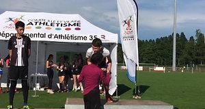Maxime Prost (MIG) - Champion départemental à la hauteur 1m62