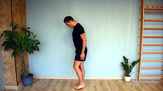 43 - Étirement du quadriceps 2 (debout contre un mur)