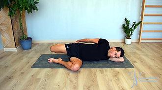 42 - Étirement du quadriceps 1 (sur le coté)