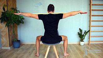 20 - Mobilisation en rotation assis (avec baton)