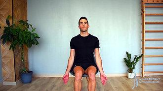 30 - Étirement de la nuque (en flexion + inclinaison + rotation homolatérale)