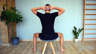 19 - Mobilisation en inclinaison assis (mains derrière la tête)