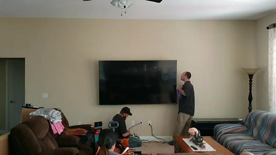 CTech LLC Time lapsed 82 Inch TV Installation