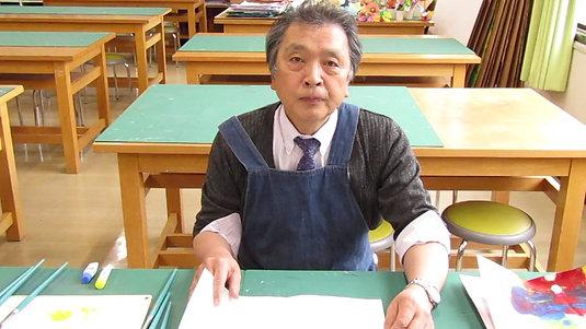 造形遊び「デカルコマニー」岩田先生
