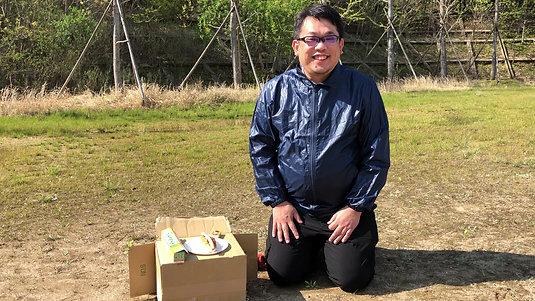 自然体験「カートンドッグ」原田先生