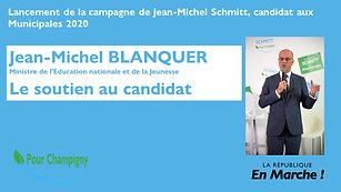 Le soutien de Jean-Michel Blanquer