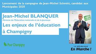 Une politique éducative ambitieuse pour Champigny