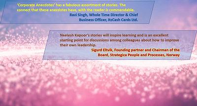 Corporate Anecdotes - Neelesh Kapoor - Launch