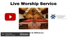 Sunday Live Worship Service