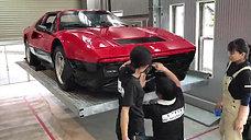 フェラーリ328gts腰下ラッピング作業