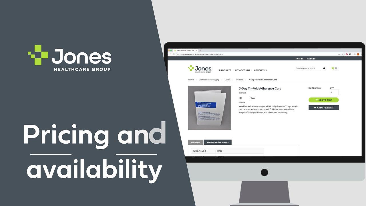 Jones Healthcare group e-commerce video