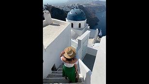 Santorini Greece with music