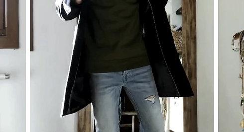 OOTD 1 - Un manteau / 1 Jean / 2 tenues