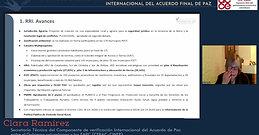 Informe de la Secretaría Técnica del Componente de Verificación Internacional del Acuerdo Final de Paz