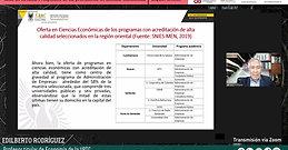 Ciclo de tertulias Prospectiva de las profesiones en ciencias económicas. Región orientalMi transmisión en vivo