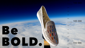 FIRST SHOE INTO SPACE!