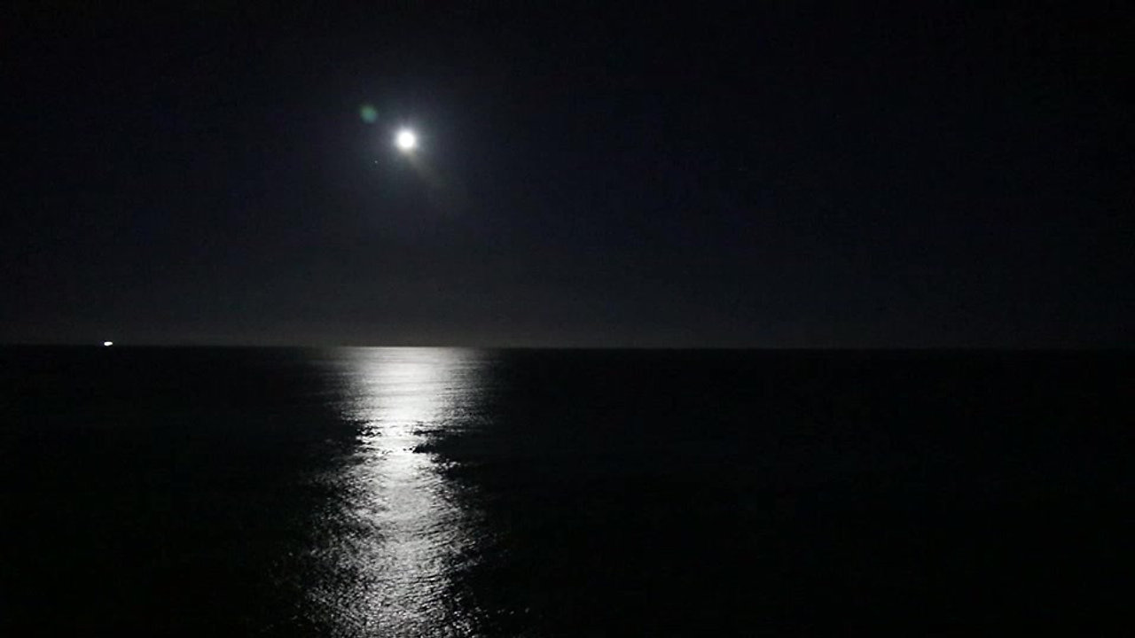 moon over friar's bay