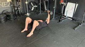 Single arm floor press