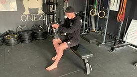 Bent leg calf raise