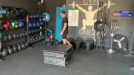 Single leg box jump