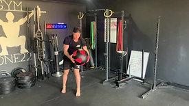 Rotational med ball slams