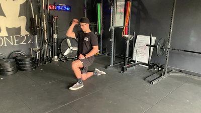 Half-Kneeling Single Arm OHP