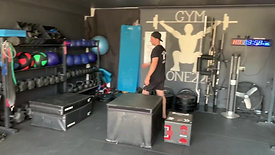 Seated box jumps