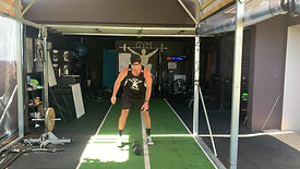Hang dumbbell clean and jerk