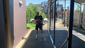Rotational med ball throws