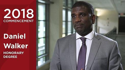 Daniel Walker- 2018 Honorary Degree Recipient