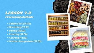 Lesson 7.2 Processing Methods