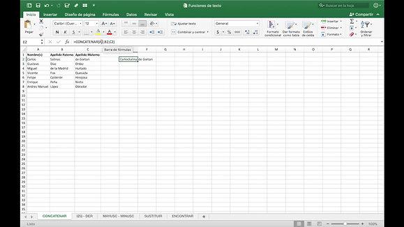 Microsoft Excel - Concatenar