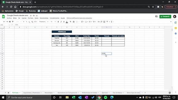 Google Sheets - Formulas R