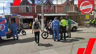 #ÚltimaHora ACCIDENTE DE TRANSITO DEJA UN MOTOCICLISTA LESIONADO.