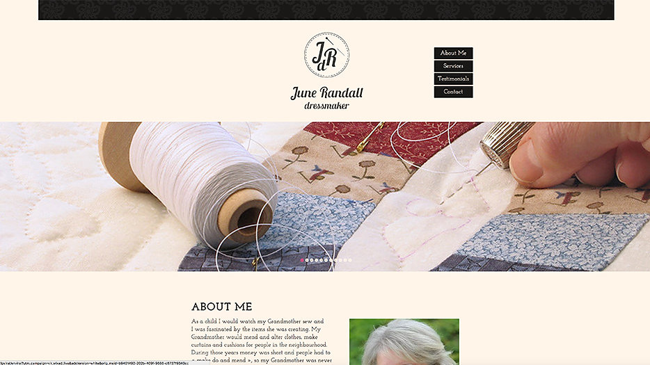 June Randall dressmaker Website