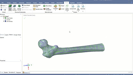 One Click Reverse Engineering Ansys SpaceClaim
