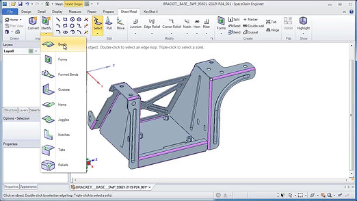 Unfolding Sheet Metal with Ansys SpaceClaim