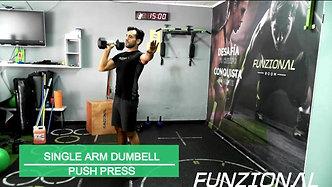 SINGLE ARM DUMBELLPUSH PRESS