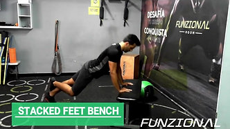STACKED FEET PUSH UP BENCH