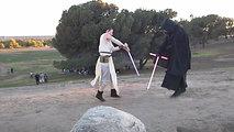 Rey and Kylo Ren Lightsaber Dance