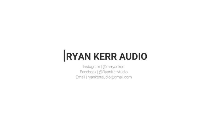 Ryan Kerr Audio   Portfolio