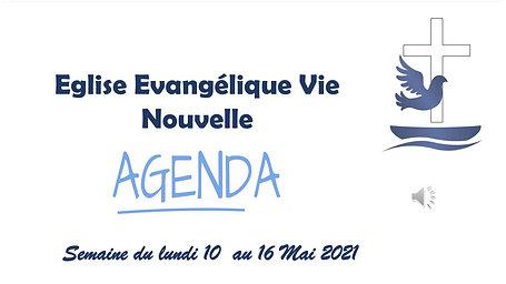 Agenda du 10 au 16 Mai 2021