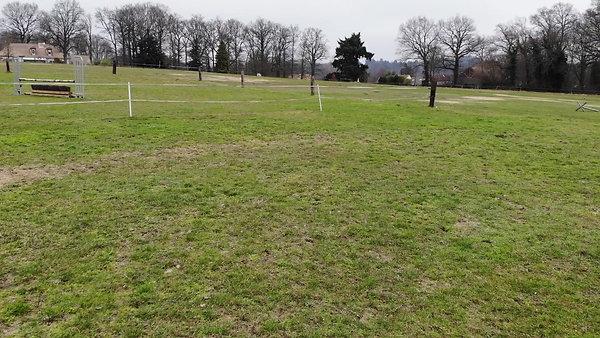 Parcours vert (herbe du bas)