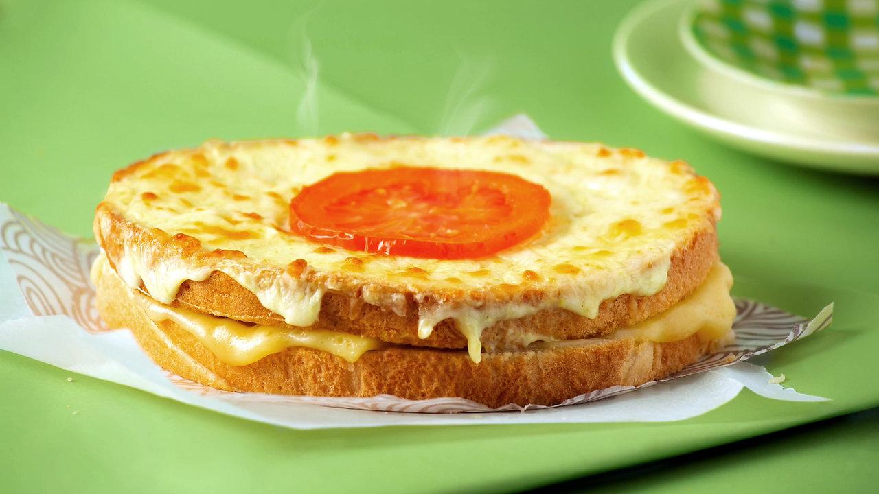 Deli Cheese and tomato Croque